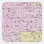 El condado de Sonoma, California 32 Colcomanias Cuadradas
