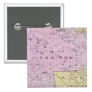 El condado de Sonoma, California 32 Pin Cuadrada 5 Cm
