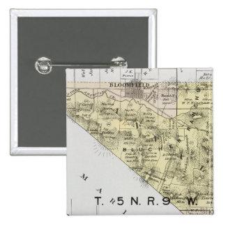 El condado de Sonoma, California 3 Pin Cuadrada 5 Cm