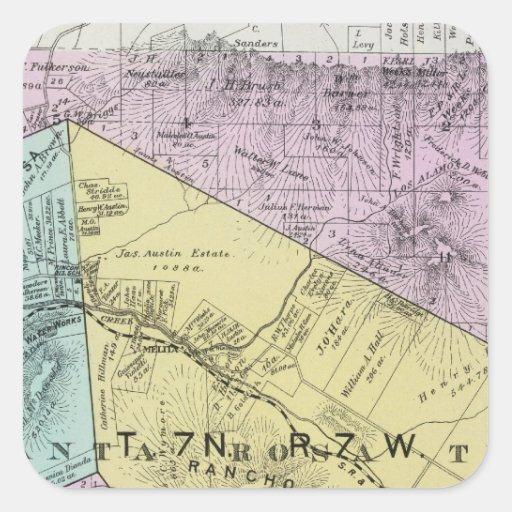 El condado de Sonoma, California 4 Pegatina Cuadrada