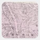 El condado de Sonoma, California 4 Calcomanía Cuadradase