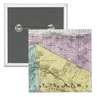 El condado de Sonoma, California 4 Pin Cuadrada 5 Cm