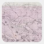 El condado de Sonoma, California 5 Calcomania Cuadradas Personalizadas
