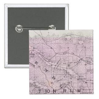 El condado de Sonoma, California 5 Pin Cuadrada 5 Cm