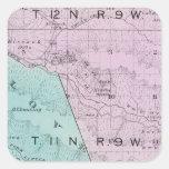 El condado de Sonoma, California 6 Calcomanía Cuadradase
