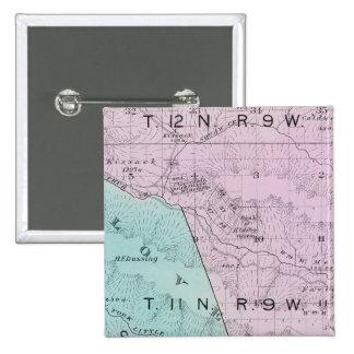 El condado de Sonoma, California 6 Pin Cuadrada 5 Cm