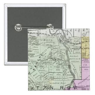 El condado de Sonoma, California Pin Cuadrada 5 Cm