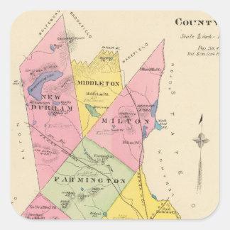 El condado de Strafford, NH Calcomania Cuadradas Personalizadas