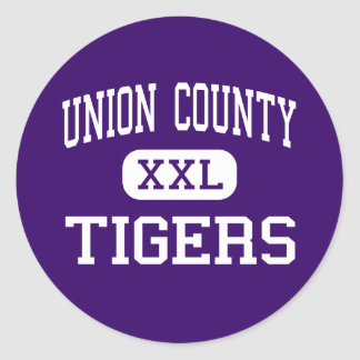 El condado de Union - tigres - alto - Lake Butler Pegatina Redonda