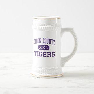 El condado de Union - tigres - alto - Lake Butler  Tazas De Café