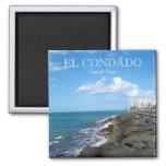 El Condado Puerto Rico 2 Inch Square Magnet