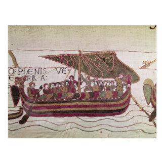 El conde Harold con el suyo navega por completo de Tarjeta Postal