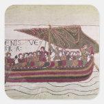 El conde Harold con el suyo navega por completo Pegatinas Cuadradas
