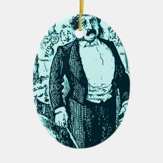 El conductor adorno navideño ovalado de cerámica