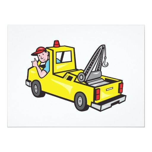 """El conductor de camión del camión de auxilio de la invitación 6.5"""" x 8.75"""""""
