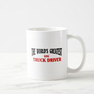 El conductor de camión más grande del registro taza básica blanca