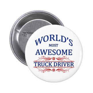El conductor de camión más impresionante del mundo pin redondo 5 cm