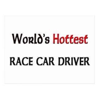 El conductor de coche de carreras más caliente de tarjeta postal
