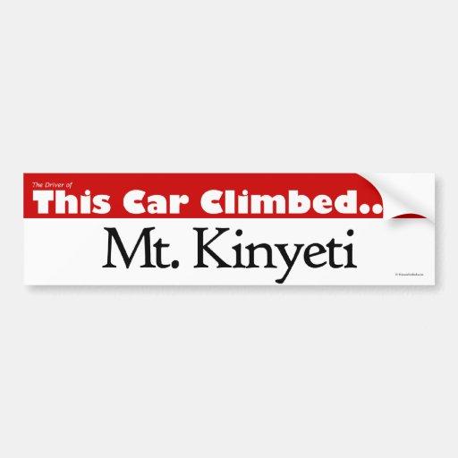 El conductor de este Mt. ascendente coche Kinyeti Pegatina Para Auto