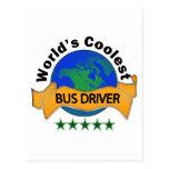 El conductor del autobús más fresco del mundo postal