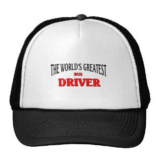 El conductor del autobús más grande del mundo gorras