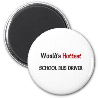 El conductor más caliente del autobús escolar de imán redondo 5 cm