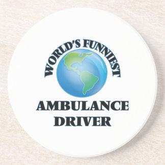 El conductor más divertido de la ambulancia del posavasos cerveza