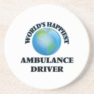 El conductor más feliz de la ambulancia del mundo posavasos manualidades