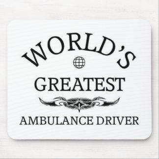 El conductor más grande de la ambulancia del mundo alfombrillas de ratón