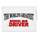 El conductor más grande del autobús escolar del mu felicitación