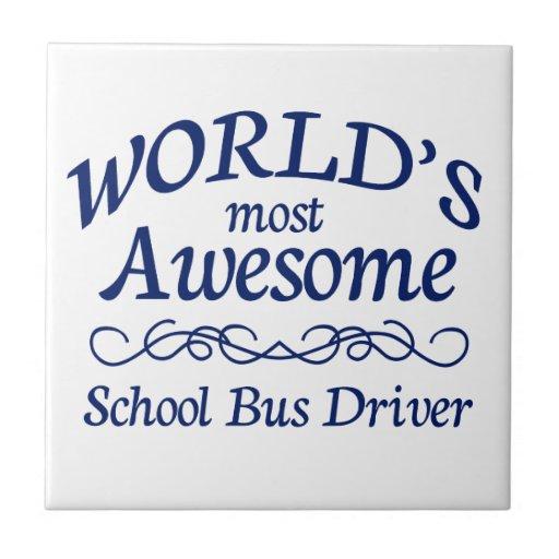 El conductor más impresionante del autobús escolar azulejos cerámicos