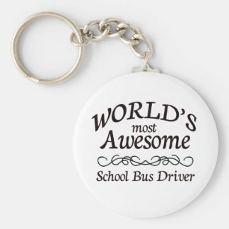El conductor más impresionante del autobús escolar llavero redondo tipo pin