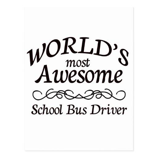 El conductor más impresionante del autobús escolar tarjeta postal