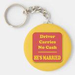 El conductor no lleva ningún efectivo llavero personalizado