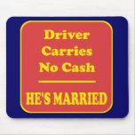 El conductor no lleva ningún efectivo tapete de ratones