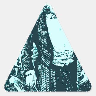 El conductor calcomanía de trianguladas