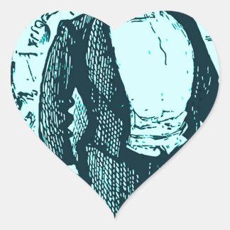 El conductor pegatina en forma de corazón