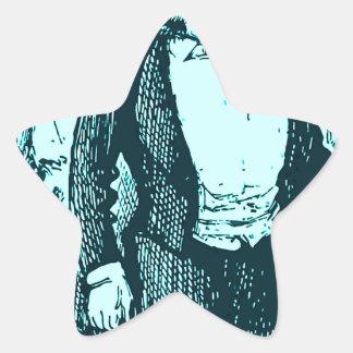 El conductor pegatina en forma de estrella