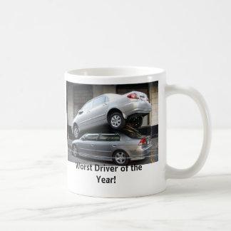El conductor peor del año tazas