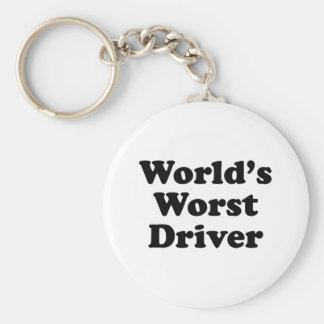 El conductor peor del mundo llavero redondo tipo pin