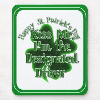 ¡El conductor señalado del día de St Patrick - Tapete De Ratón