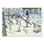 El conejito amenaza al muñeco de nieve para la tar