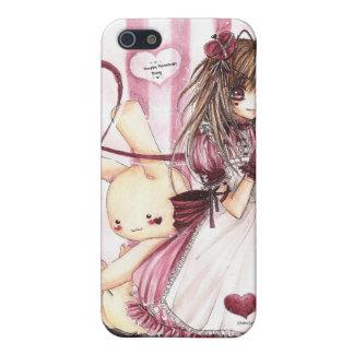 El conejito de la tarjeta del día de San Valentín iPhone 5 Protector