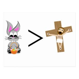El conejito de pascua es mayor que Jesús Postal