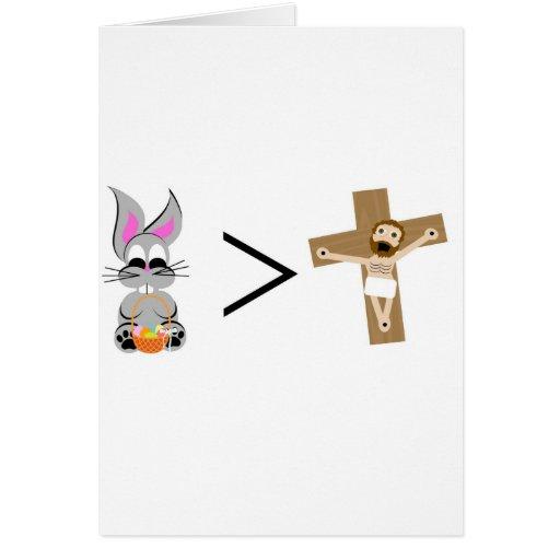 El conejito de pascua es mayor que Jesús Tarjetón