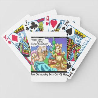 El conejito de pascua es una marmota divertida baraja de cartas bicycle