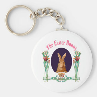 El conejito de pascua llavero redondo tipo pin