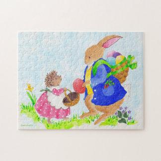 El conejito de pascua y el erizo de Heddy Puzzle Con Fotos