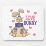 El conejito del amor embroma el regalo de Pascua Tapete De Ratón