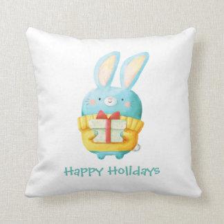 El conejito del navidad cojín decorativo